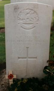Haines AE grave